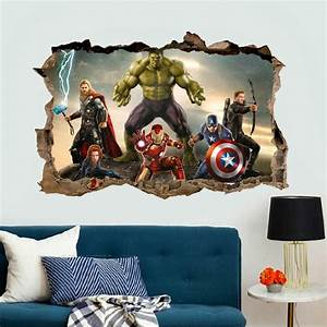 3d effect the avengers wall stickers for kids rooms decor With good look the avengers wall decals