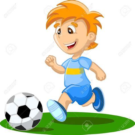 playing cartoon football cliparts