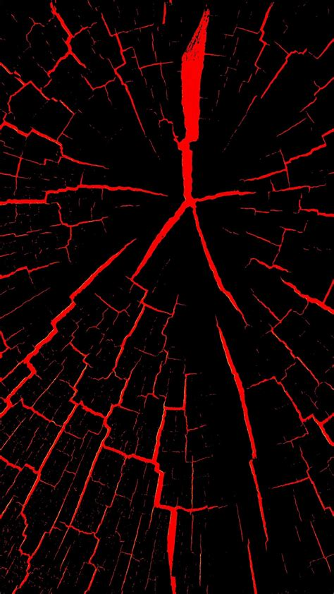 papeis de parede rachaduras preto  vermelho abstrato