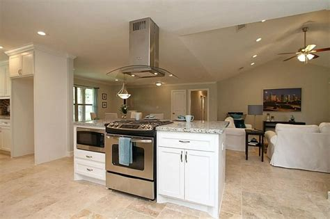 Range On Island  Kitchen Remodel