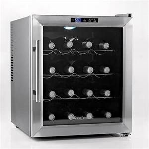 Wine Enthusiast 16-Bottle Silent Wine Cooler-272 02 17 ...