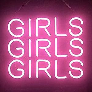 Gritcol Pink Girls Neon Sign Light Gifts Love Beer Bar Man