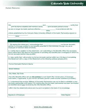 domestic partner affidavit form california editable domestic partnership affidavit template fill