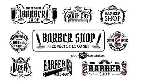 Set Of Free Barber Shop Logo Vector
