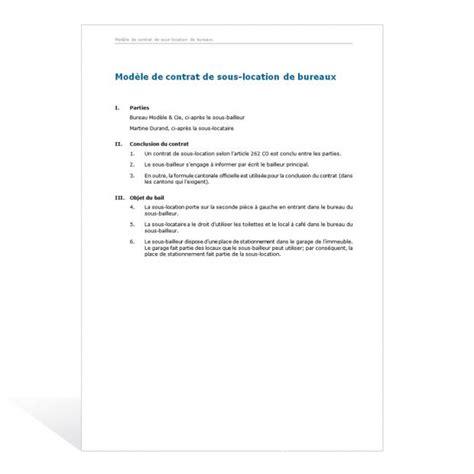 bail de bureau mod e modele bail bureau document