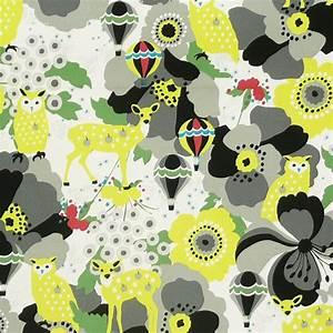 Canvas Stoff Gemustert : stoff canvas kayo horaguchi eule bambi grau gelb baumwollstoff 1 10m breite stoffe stoffe ~ Orissabook.com Haus und Dekorationen