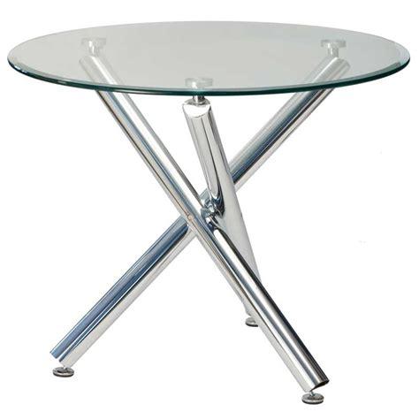 circular coffee table demi 90cm glass top dining table decofurn factory shop