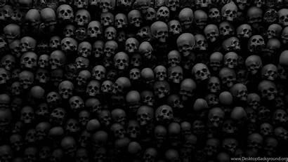 Skull 3d Skulls Many Desktop Background