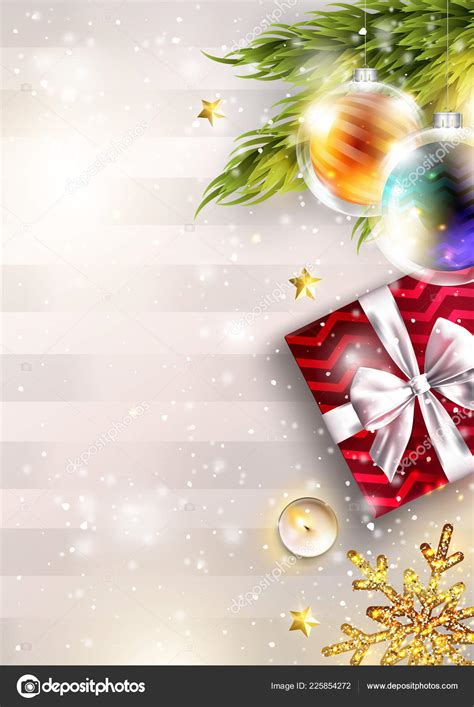 Christmas Vector Background with Copy Space Invitation