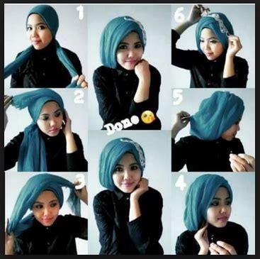 tutorial hijab pesta pernikahan simpel praktis glamour