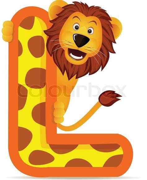Elephant Nursery Lamp by Animal Alphabet L With Lion Vector Colourbox
