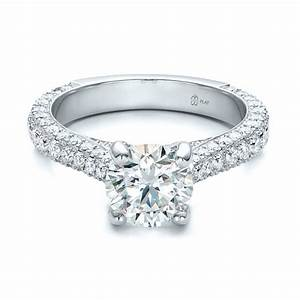 pave diamond wedding rings awesome navokalcom With pave diamond wedding rings