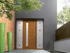 porte dentree bois contemporaine sellingstgcom With entree de maison exterieur 3 pose porte dentree aluminium devis installation de