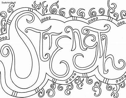 Coloring Pages Printable Inspirational Sheets Quotes Doodle