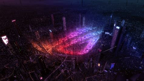 wallpaper asus rog republic  gamers city lights