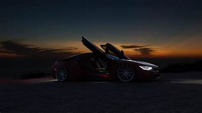 Sports Supercar Laptop Tablet Night Background Sunset
