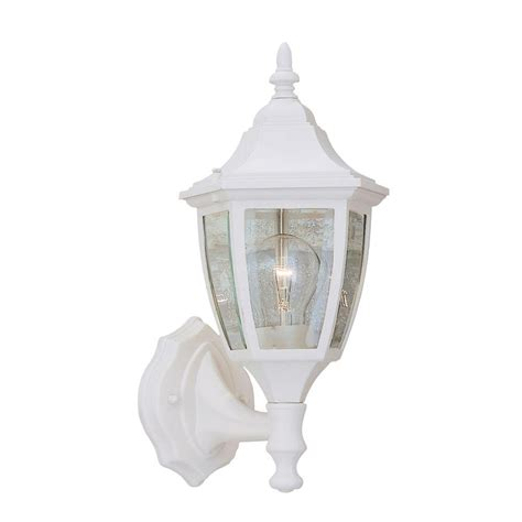 designers waterbury collection white outdoor wall mount lantern 2462 wh the home depot