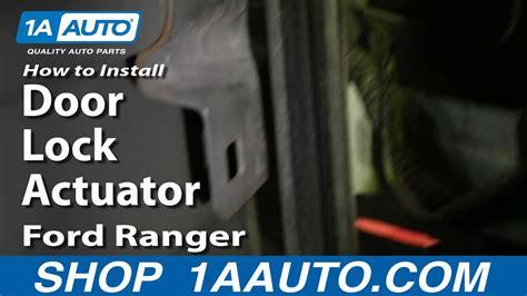 replace door lock actuator   ford ranger youtube