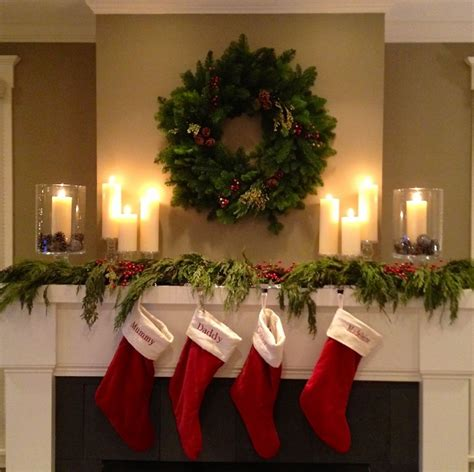 simple christmas mantel twoinspiredesign