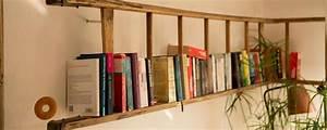 Regal Aus Leiter : b cherregal regal aus alter leiter made by myself dein diy heimwerker blog ~ Orissabook.com Haus und Dekorationen