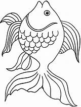 Goldfish Coloring Pages Fish Printable Bowl Crackers Drawing Template Getcolorings Pa Colorings Getdrawings Rainbow Sketch Recommended Goldfishes sketch template