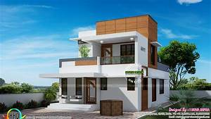 Small, Double, Floor, Modern, House, Plan