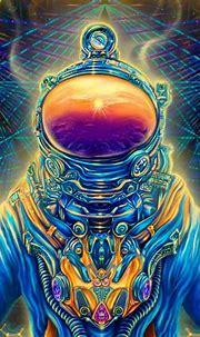 Trippy Psychedelic Wall Art «Astronaut»   Fractalika