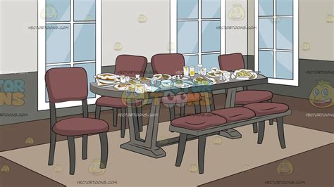 Dining Room Clipart Images by Dining Room Background Clipart By Vectortoons
