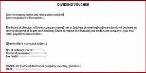 how to issue dividends in a private company limited by shares With dividend certificate template