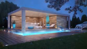 Harmonious House With Swimming Pool Design by Pool House Challenge Pool Houses House And Pool House