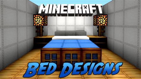minecraft bed designs and ideas youtube