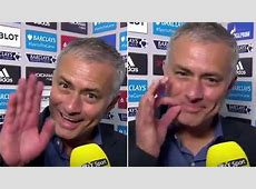 Jose Mourinho all smiles in postmatch interview MARCA