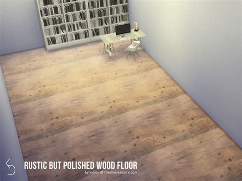 Rustic But Polished wood floor by k omu at TSR » Sims 4