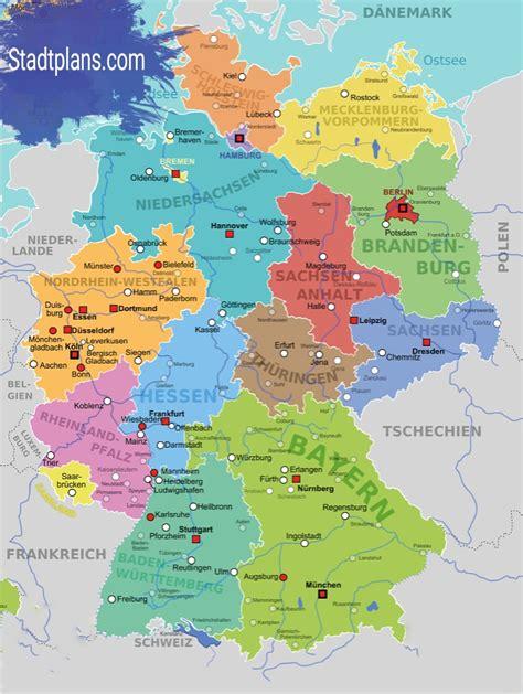 deutschland karte bundeslaender stadtplan