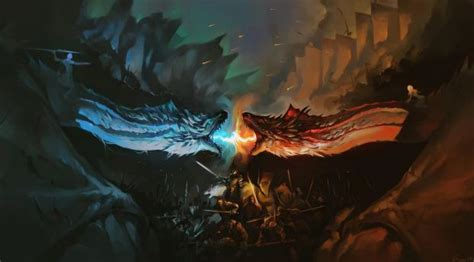 dragon battle fire  ice game  thrones hd full