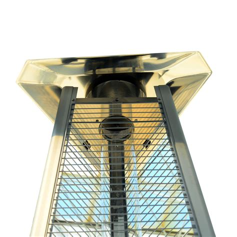 outsunny 90 quot stainless steel pyramid patio heater with