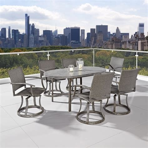 swivel patio dining set cozy outdoor 7 patio dining set with swivel