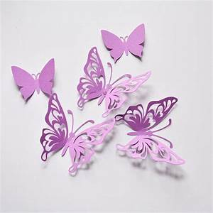 purple butterfly wall decor birthday from artpaperwonders on With butterfly wall decor