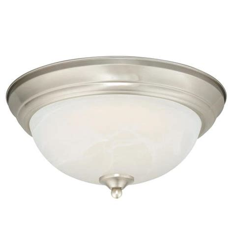 menards kitchen ceiling lights payton led 15 quot satin nickel ceiling light at menards 174 7434