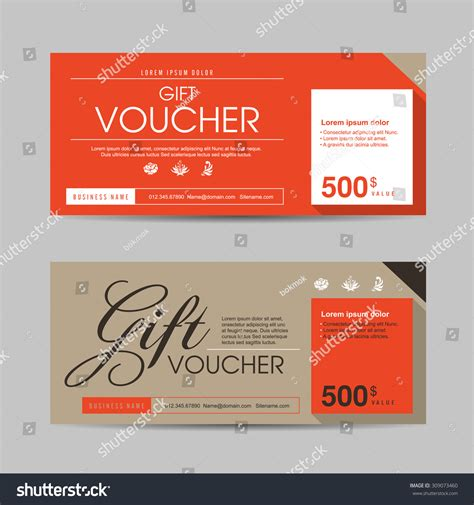 gift coupon template vector illustrationgift voucher template colorful patterngift stock vector 309073460