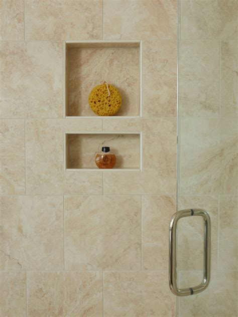 recessed shower shelf book of bathroom recessed shelves in spain by jacob