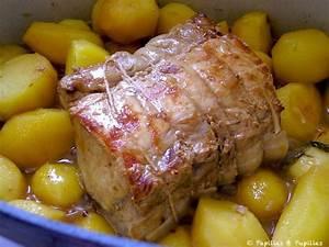 Rôti de porc à l'estragon, échalotes et pommes de terre