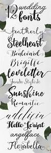 Calligraphy wedding fonts - Skyla Design