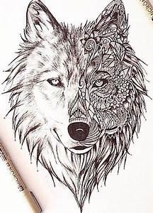 Tatouage Loup Graphique : perfect wolf tattoo tatouages pinterest loup dessin ~ Mglfilm.com Idées de Décoration