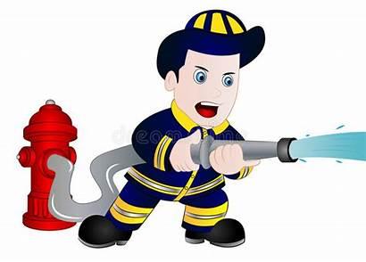 Fireman Clipart Cartoon Jobs Head Feuerwehrmann Vector