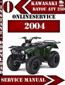 Free Kawasaki Klf220 Bayou 220 Atv Full Service  U0026 Repair Manual 1988