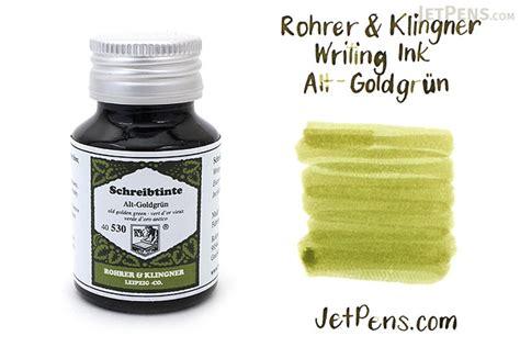 rohrer klingner alt goldgruen  golden green writing