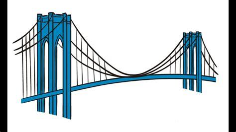 How to Draw a Brooklyn Bridge / Как нарисовать Бруклинский ...