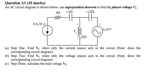 Solved Circuit Diagram Shown Below Use Superpos