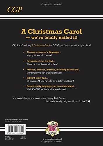 grade   gcse english text guide  christmas carol cgp
